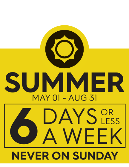 SUMMER 6 days a week. No watering from 11am - 7pm